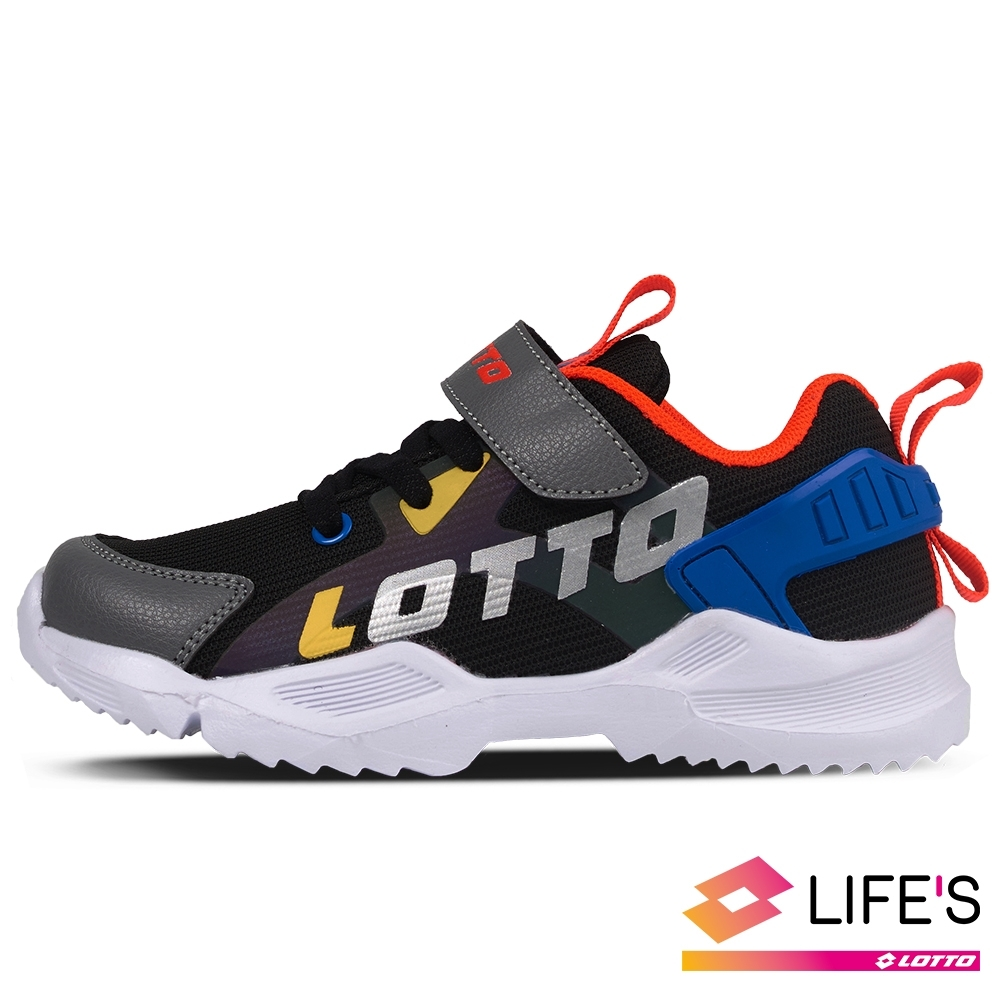 LOTTO 義大利 童鞋 EASY RIDE 輕量跑鞋(黑藍)