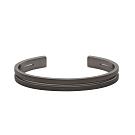 agnes b.Iconic不鏽鋼男性手環(黑)(對環)