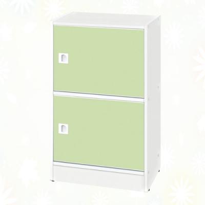 文創集 希莉 環保1.4尺南亞塑鋼開放二門置物櫃/收納櫃-43.4x33.7x79cm免組