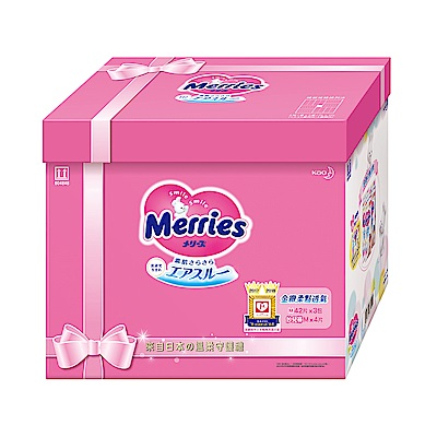 妙而舒 金緻柔點透氣紙尿褲 成長餽贈禮 M42片X3包/箱