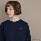 GIORDANO 女裝經典CAMPUS大學T恤 - 21 標誌海軍藍