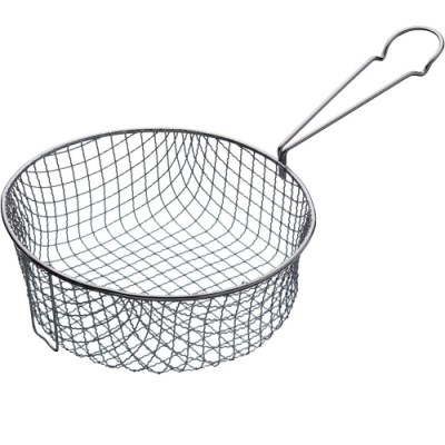 《KitchenCraft》夾式長柄炸籃(圓20cm)