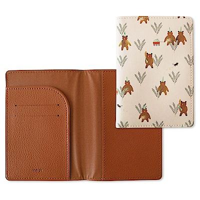 Indigo 柳林風聲皮革護照套-粉紅棕熊