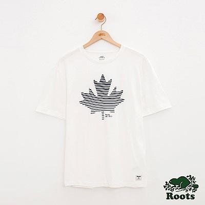 男裝Roots 楓葉短袖T恤-白