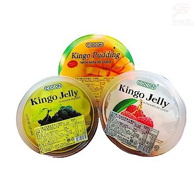 金德恩 超大杯椰果亞熱帶水果布丁果凍-三種口味(4個)