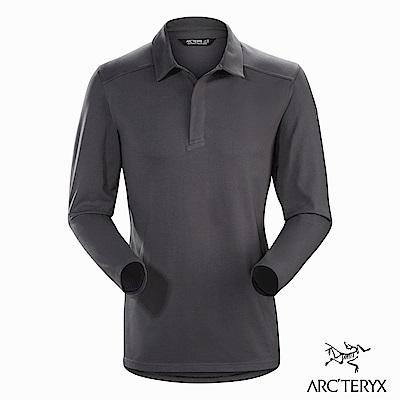 Arcteryx 男 Captive 輕量 快乾 長袖POLO衫 機長灰