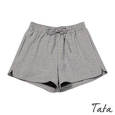 鬆緊腰抽繩休閒短褲 共三色 TATA