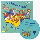 Ten Little Monkey 十隻猴子在床上跳CD書