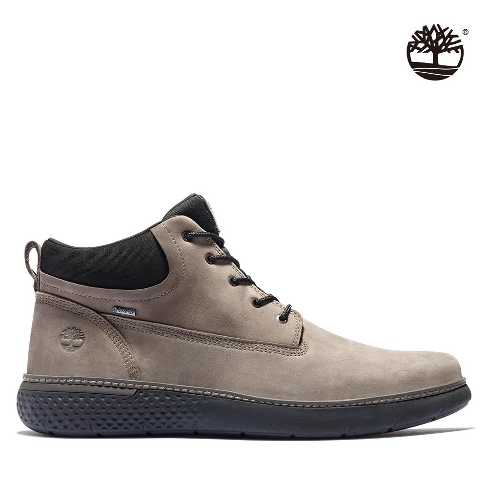Timberland 男款中棕色絨面革GORE-TEX休閒中筒靴|A42XH