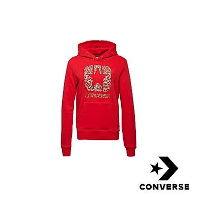 CONVERSE-女休閒連帽上衣-紅-10006631-A03