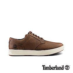 Timberland 男款深咖啡全粒面革休閒鞋|A1S6W