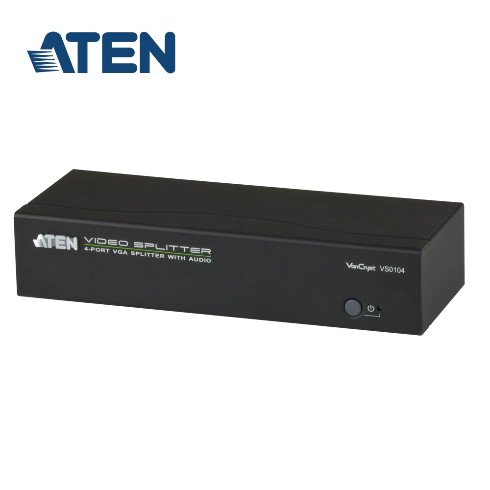 ATEN 4埠 VGA 螢幕分配器 (VS0104)
