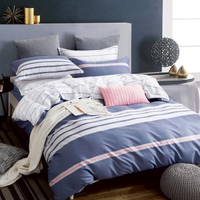 Ania Casa維拉小城 雙人三件式 100%精梳棉 台灣製 床包枕套純棉三件組