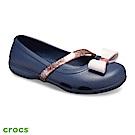 Crocs 卡駱馳 (童鞋) 莉娜女孩奇趣平底鞋 205529-410