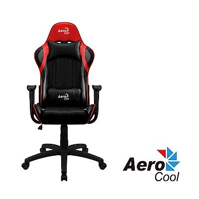 【Aerocool 愛樂酷 】AC120 AIR系列 競速超跑電競賽車椅(黑紅色)