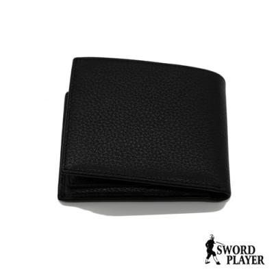 【SWORD PLAYER】經典牛皮活動卡夾可抽取真皮短夾(進口牛皮系列)