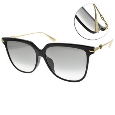 DIOR太陽眼鏡  微貓眼框款/黑金-漸層灰鏡片 #LINK3F 8079O