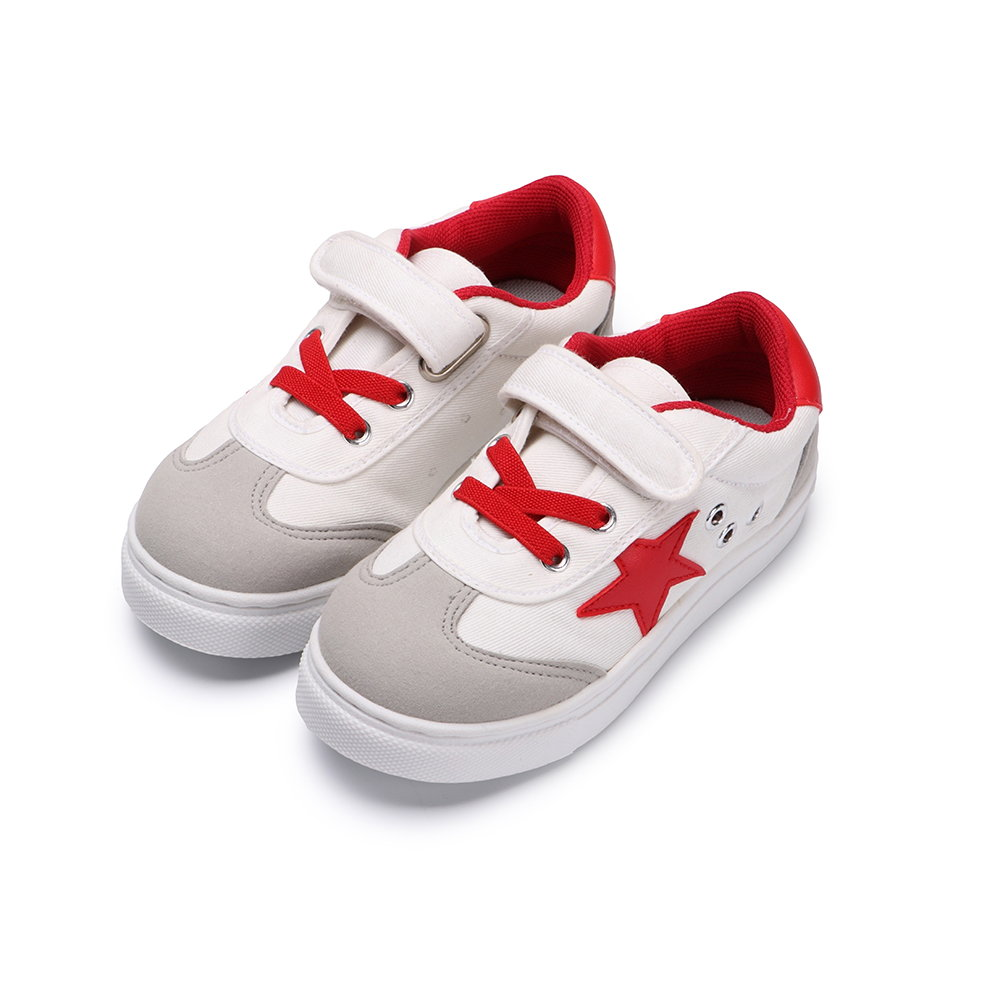BuyGlasses 經典兩色星星兒童休閒鞋-紅