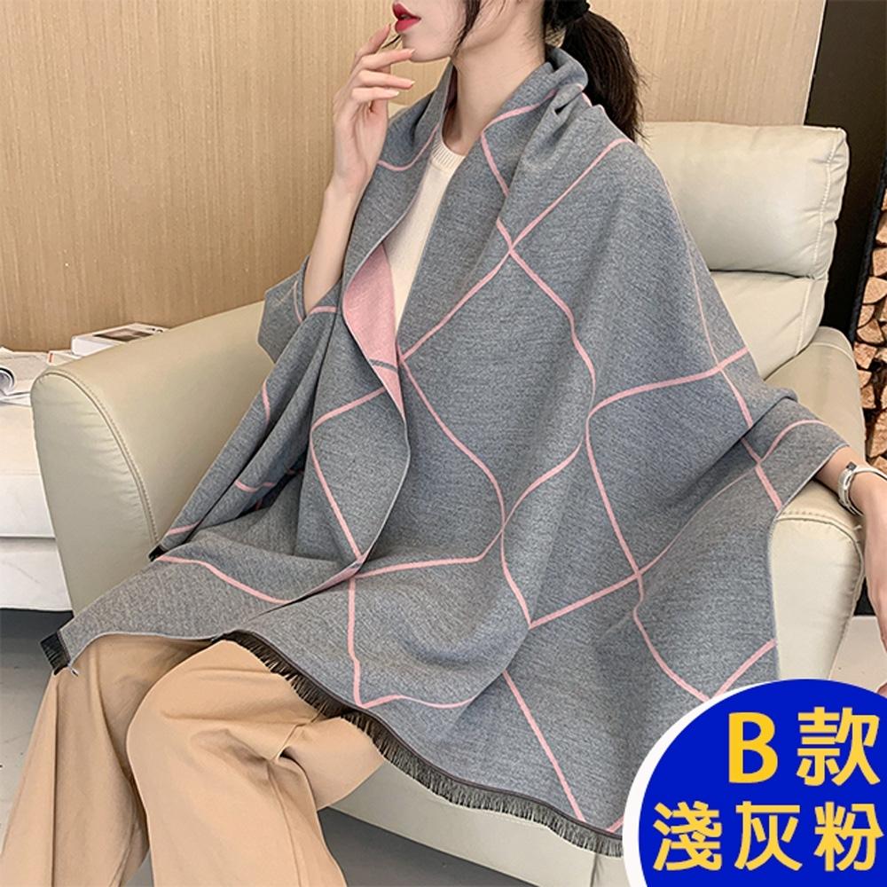 【韓國K.W.】(預購)獨家下殺-時尚素雅羊絨披肩圍巾組-共五款 product image 1