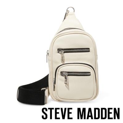 STEVE MADDEN-BAUSTEN 街頭潮流單肩背包-白色