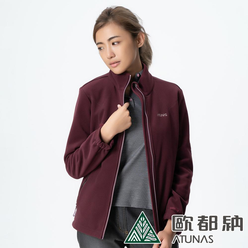 【ATUNAS 歐都納】女款WINDSTOPPER風衣保暖外套A3-G1712W紅