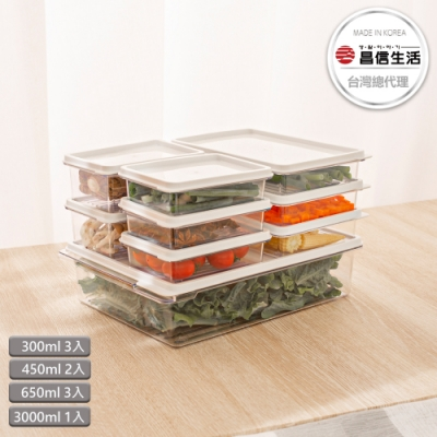 【韓國昌信生活】SENSE冰箱萬用保鮮盒9件組-Yahoo限定A組