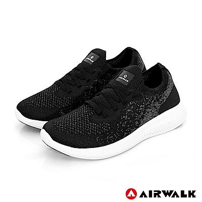 【AIRWALK】浮光掠影編織運動鞋-女款-黑