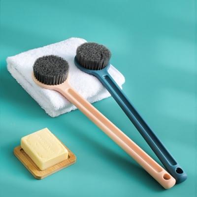 [荷生活]長柄圓頭按摩沐浴刷 洗背去角質搓澡刷