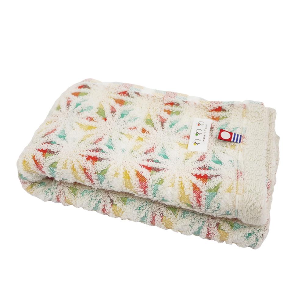 日本丸真 今治繽紛麻葉毛巾- 米