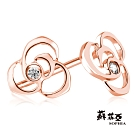 蘇菲亞SOPHIA 鑽石耳環-薔薇玫瑰金鑽石耳環