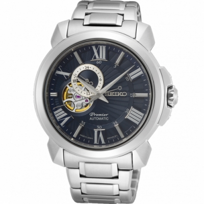 SEIKO Premier 開芯羅馬機械錶#4R39-00S0B#SA415J1