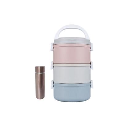 【鵝頭牌】日系馬卡龍不鏽鋼飯盒CI-333H+316口袋杯