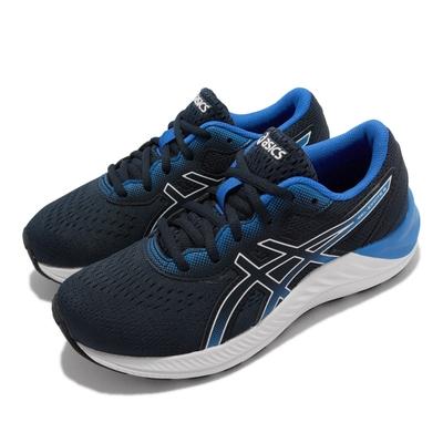 Asics 慢跑鞋 GEL Excite 8 運動 女鞋 亞瑟士 路跑 緩震 輕量 透氣 大童 藍 白 1014A201411