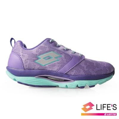 LOTTO 義大利 女 EASY WALK 美體健步鞋 (紫)