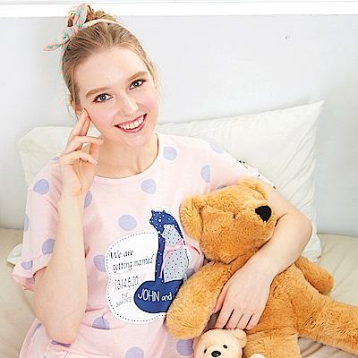 睡衣 土撥鼠甜心點點連身睡衣 兩色可選(R85009)蕾妮塔塔