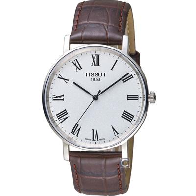 TISSOT天梭Everytime經典時尚紳士錶-咖啡/38mm