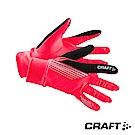 CRAFT 反光保暖跑步手套 螢光桃紅