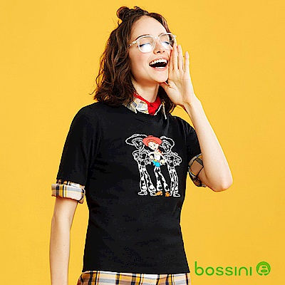 bossini女裝-玩具總動員印花T恤-翠絲黑