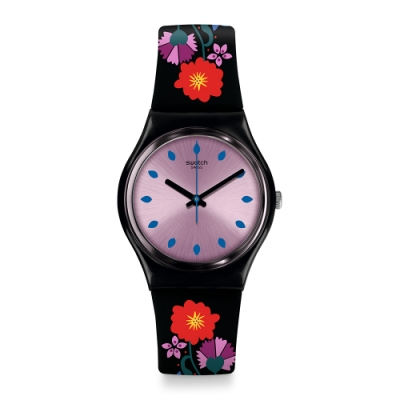 Swatch  I love your folk系列 COQUELICOTTE 花開滿園