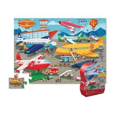 美國Crocodile Creek 大型地板拼圖系列 - 機場交通
