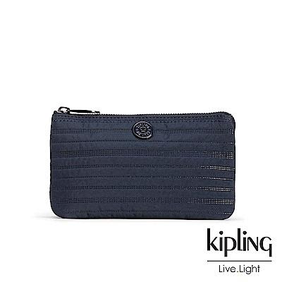 Kipling幹練藍素面配件零錢包(大)
