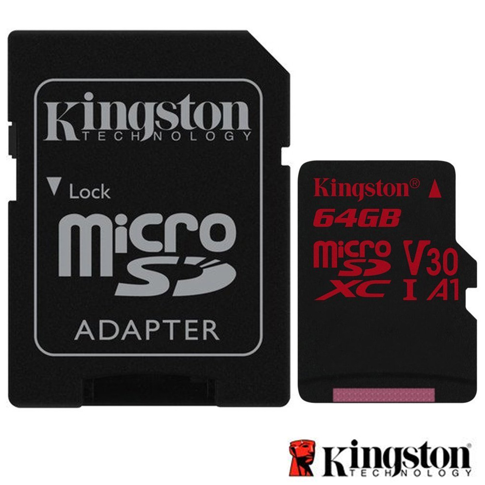 Kingston 金士頓 64G U3 microSDXC V30 A1 記憶卡 SDCR