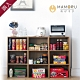 好購家居  日式簡約三層開放式木紋收納櫃-超值2入組 product thumbnail 1