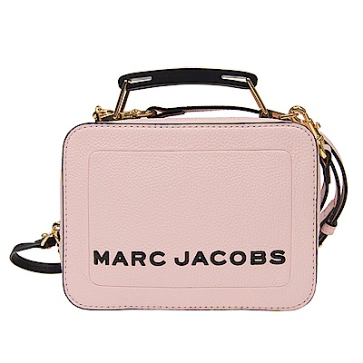 MARC JACOBS THE BOX 20 雙拉鍊牛皮手提/肩背兩用包(小款/櫻花粉)
