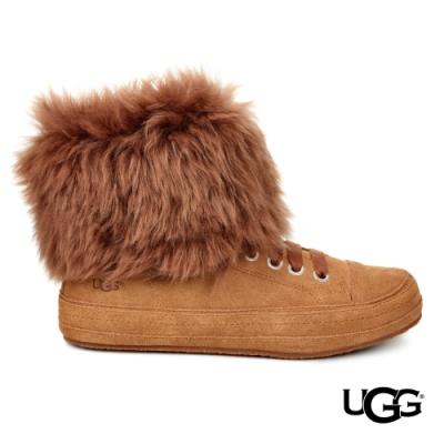 UGG女士  Antoine Fur 毛皮時尚休閒鞋