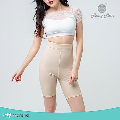 【Marena】日常塑身運動系列 輕塑高腰五分塑身褲 膚色