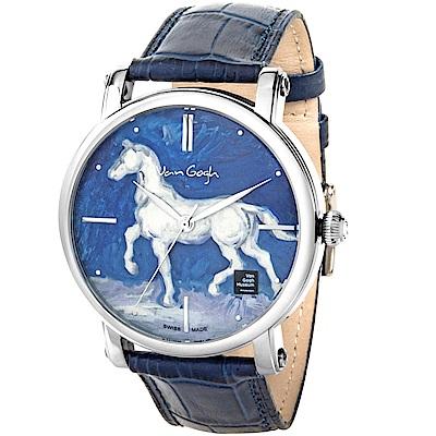 梵谷Van Gogh Swiss Watch梵谷經典名畫女錶(OPHM-L)-馬/35mm