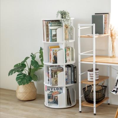 完美主義 360度旋轉直立式四層收納書櫃/書架/兒童書櫃(2色)