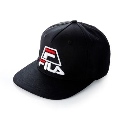 FILA 時尚LOGO帽-黑 HTT-5008-BK