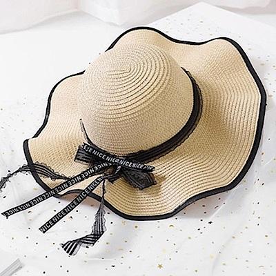 米蘭精品 草帽防曬遮陽帽-夏季戶外出遊大帽簷女帽子母親節禮物73rp30